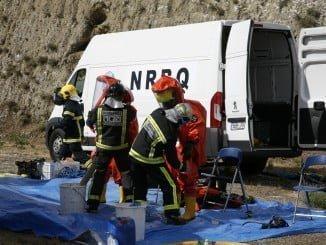 Los alumnos han participado en un rescate donde hay implicadas sustancias peligrosas