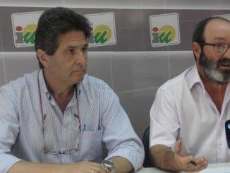 Manuel Luque y Pedro Jiménez en rueda de prensa