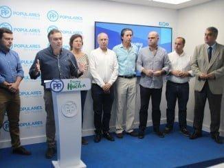 Manuel García Félix en la presentación del 15 Congreso Provincial del PP de Huelva