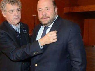Pablo Comas con Ángel María Villar