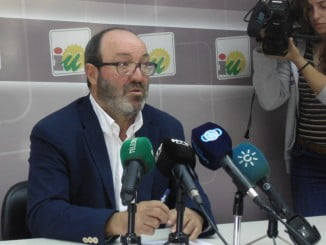Pedro Jiménez, portavoz de IU en la Diputación de Huelva
