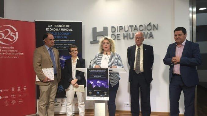 Presentación de la XIX Reunión de Economía Mundial en la Diputación de Huelva