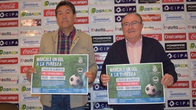 Rueda de prensa para presentar el partido solidario que el Recre jugará en beneficio del Banco de Alimentos