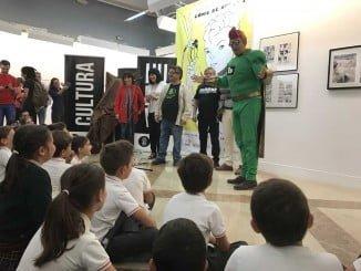 En la inaguración del Salón de Cómic ha estado 'Biblos', el superhéroe creado por los hermanos Macías