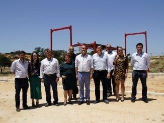 Los alcaldes de Lepe e Isla Cristina han visitado las obras del Parque El Camaleón de Islantilla