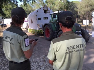 Los agentes de medio ambiente inician su labor de vigilancia durante El Rocío