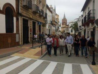 Inauguración de la calle Real de Arriba de Valverde