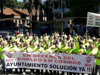 Los trabajadores de Cementos Cosmos se movilizan contra el ERTE planteado por la empresa