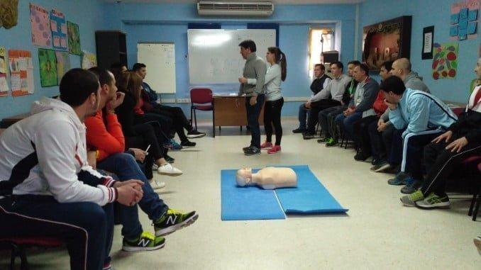 Presentación curso desfibrilador, dirigido a los responsables de las instalaciones deportivas municipales de la provincia de Huelva