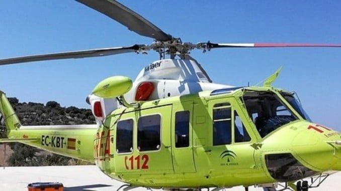 Emergencias 112 utilizó un helicóptero para trasladar al herido al hospital