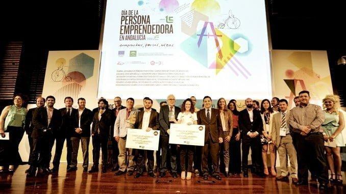 Los galardonados de una de las ediciones de los Premios Andalucía Emprende