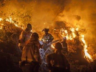 El fuego se originó por las quemas realizadas en unos trabajos forestales