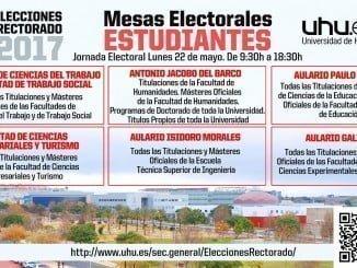 Listado de las mesas electorales para los estudiantes de la UHU