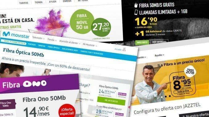 FACUA ha denunciado a seis operadoras de telecomunicaciones por publicitar los servicios de fibra óptica a un precio muy inferior al que realmente ha de pagar el consumidor que los contrata