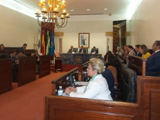 Los Presupuestos Generales del Estado y las infraestructuras en la provincia de Huelva han centrado hoy buena parte del debate en el Pleno de la Diputación