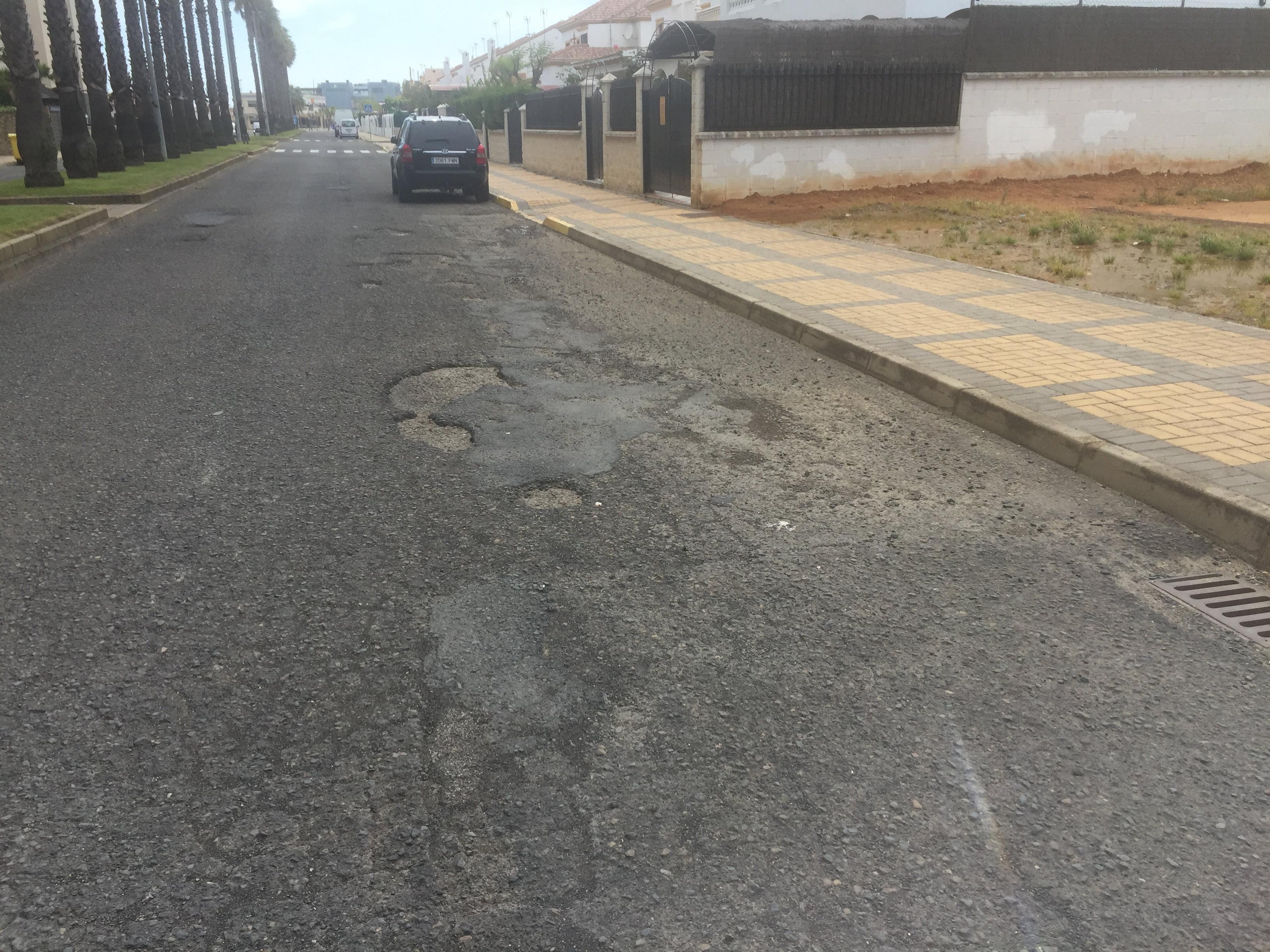 Estado de la calle antes del asfaltado.