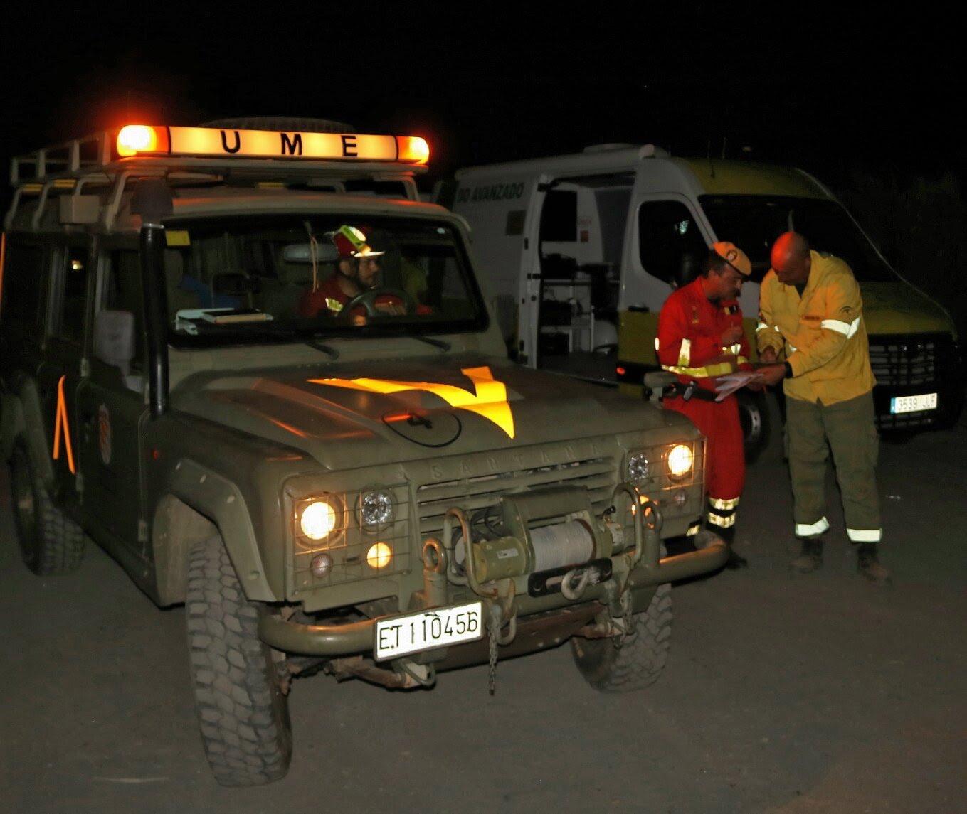 Los efectivos de la Unidad Militar de Emergencia ya se encuentran en la zona junto a los otros efectivos.