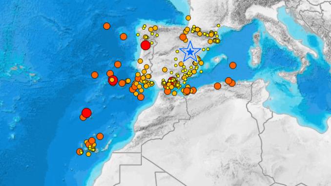 Vuelve la actividad sísmica frente a las costas de Huelva, con un último terremoto de 3,8 en la noche de este sábado.