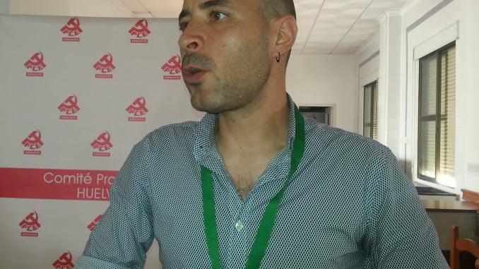 Rafael Sánchez Velo, nuevo secretario provincial del PCA en Huelva.