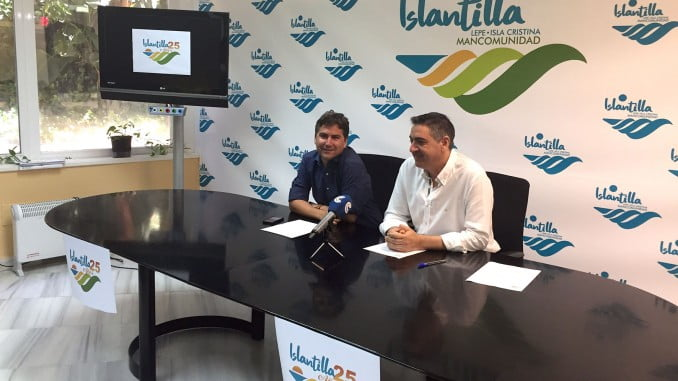 Presentación de la campaña 25 años de Islantilla en las instalaciones de la Mancomunidad