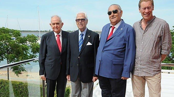 .De izquierda a derecha, José Rodríguez Torres, Joaquín Vázquez Terry, Cipriano Díaz Martínez y por Felipe Martínez Acuña, su hijo Pablo.