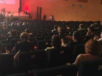 Las butacas que ocupaba la delegación andaluza estaban vacía cuando se votaban las ponencias del Congreso como quería Pedro Sánchez.