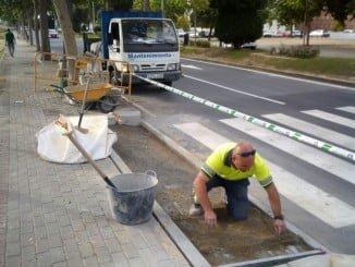 Obras en la Avenida Juan Nicolás Márquez