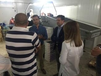Serrato visita la Cooperativa Senabra en Aroche