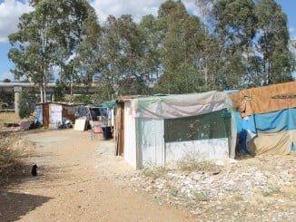 Chabolas ubicadas en Las Metas, en la capital onubense