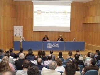 Antonio García y José Antonio Agüera presentan las declaraciones medioambientales de Cepsa