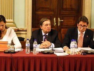 Los tres concejales de Ciudadanos en un pleno municipal