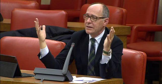 El diputado socialista Díaz Trillo en la Comisión de Fomento del Congreso