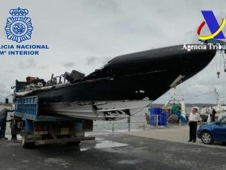La embarcación utilizada para transportar la droga también ha sido confiscada