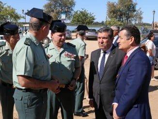 El delegado del Gobierno junto al director general de la Guardia Civil