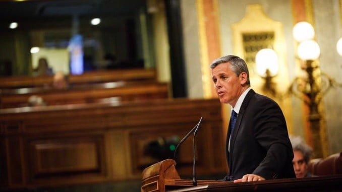 El diputado de Ciudadanos Javier Cano en el Congreso
