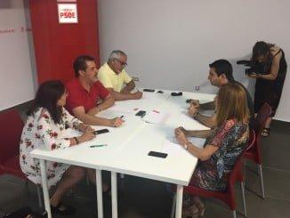 Jesús Ferrera en una reunión del Partido Socialista