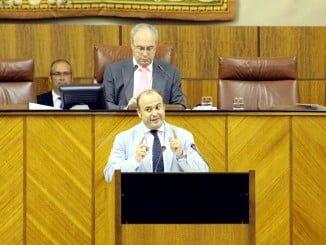 El parlamentario de Ciudadanos Julio Díaz en la Cámara andaluza