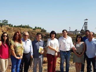 Visita de la delegada de Cultura, Carmen Solana, a las Minas de Herrerías
