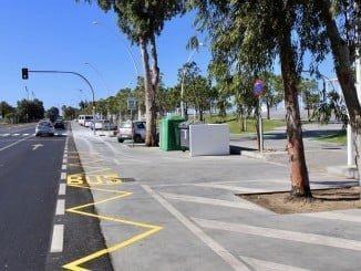 Nueva parada de autobuses en el Paseo de la Ría