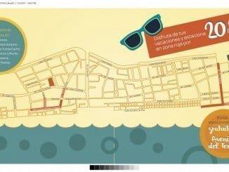 Plano con las zonas de aparcamientos que pasan a estar reguladas en La Antilla