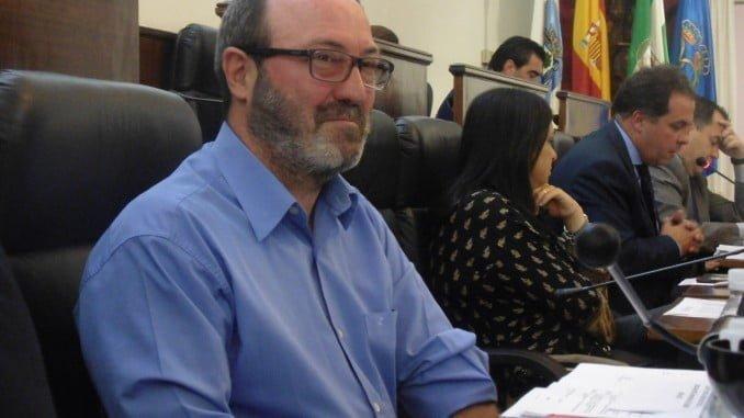 Pedro Jinénez en un pleno de la Diputación de Huelva