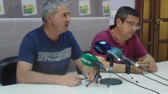 Rufino Romero y Sebastián Rivero, concejales de IU en el Ayuntamietno de Aljarque