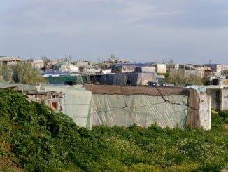 Vista general del asentamiento de Lepe