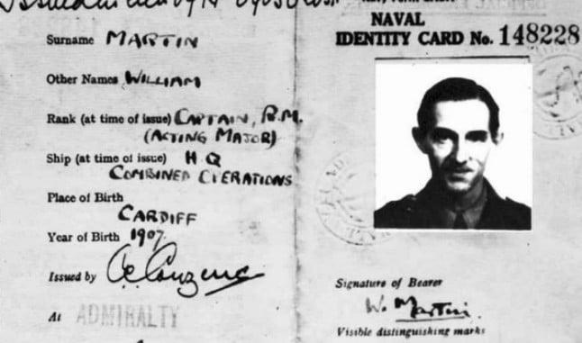 El Almirantazgo británico creó una falsa identidad para el cadáver. Así nacía el capitán William Martin