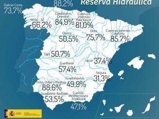 Los embalses de Huelva, los más llenos actualmente