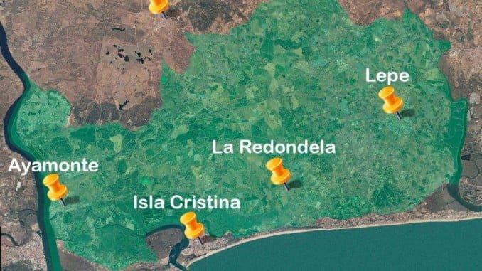 Mapa de la tierras regables del Chanza