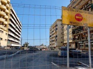 Obras en la antigua Avenida de Cádiz tras derribarse el viaducto hace más de dos años