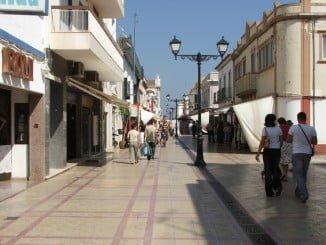 Calle comercial de Ayamonte de las que integran el CCA