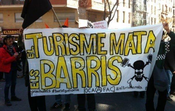 Los barceloneses, contra el turismo sin control