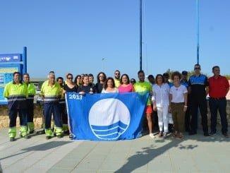 La playa urbana de Punta Umbría ya cuenta con su Bandera Azul